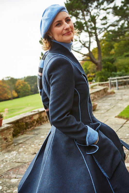 Lannagh Coat – Indigo/Blue – Made in England
