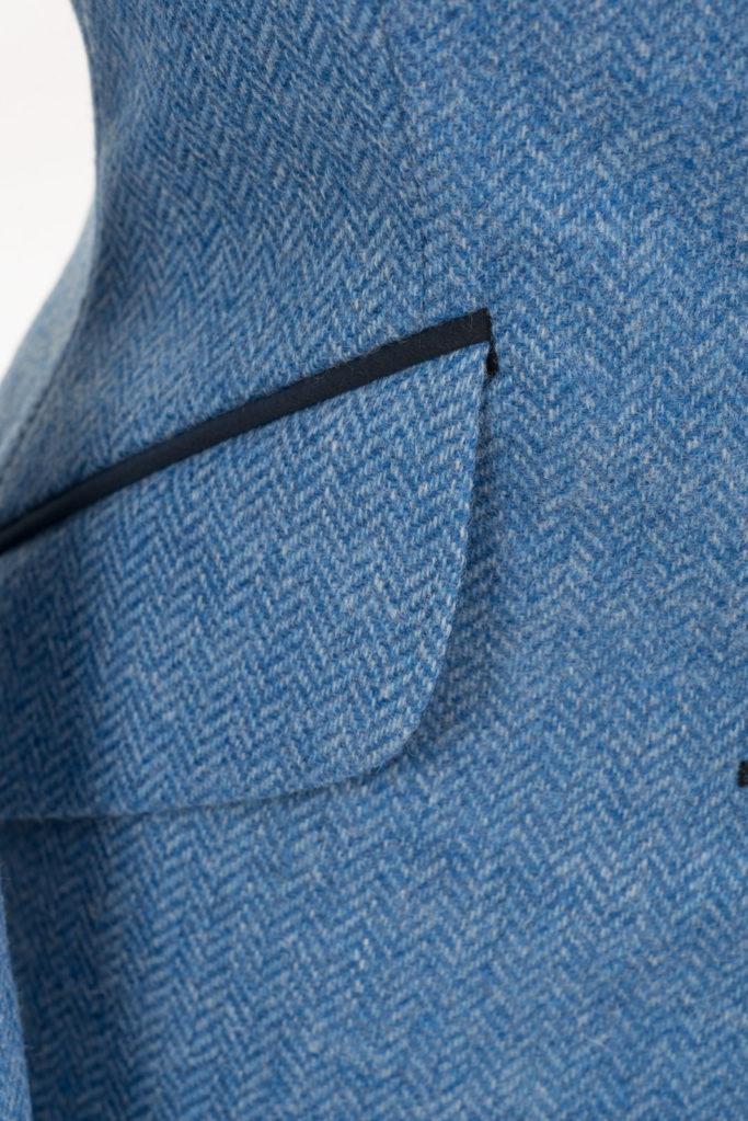 Va Va Voom Jacket – Light Blue Herringbone