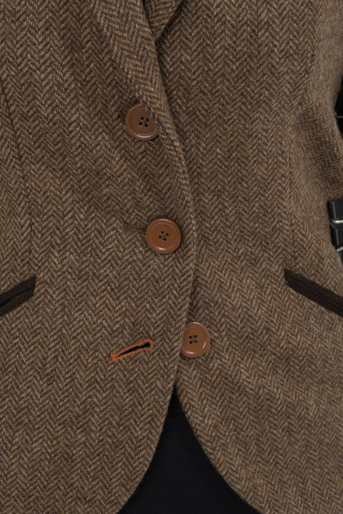 Foxford Gilet Waistcoat – Brown Herringbone – Made in England
