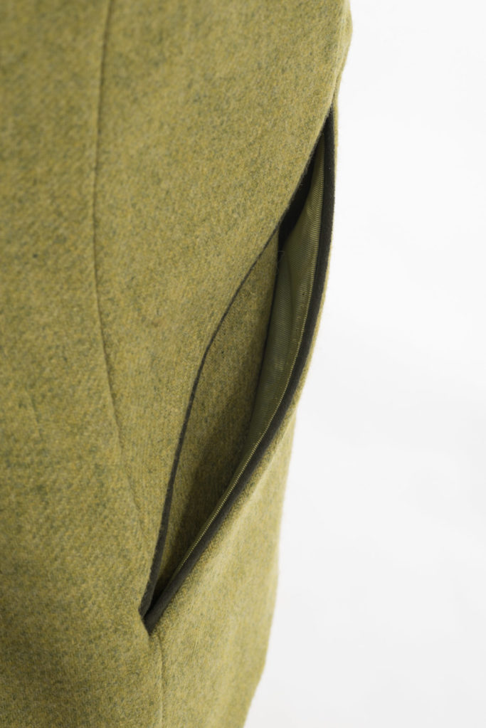 Foxford Gilet Waistcoat – Chartreuse Tweed – Made in England