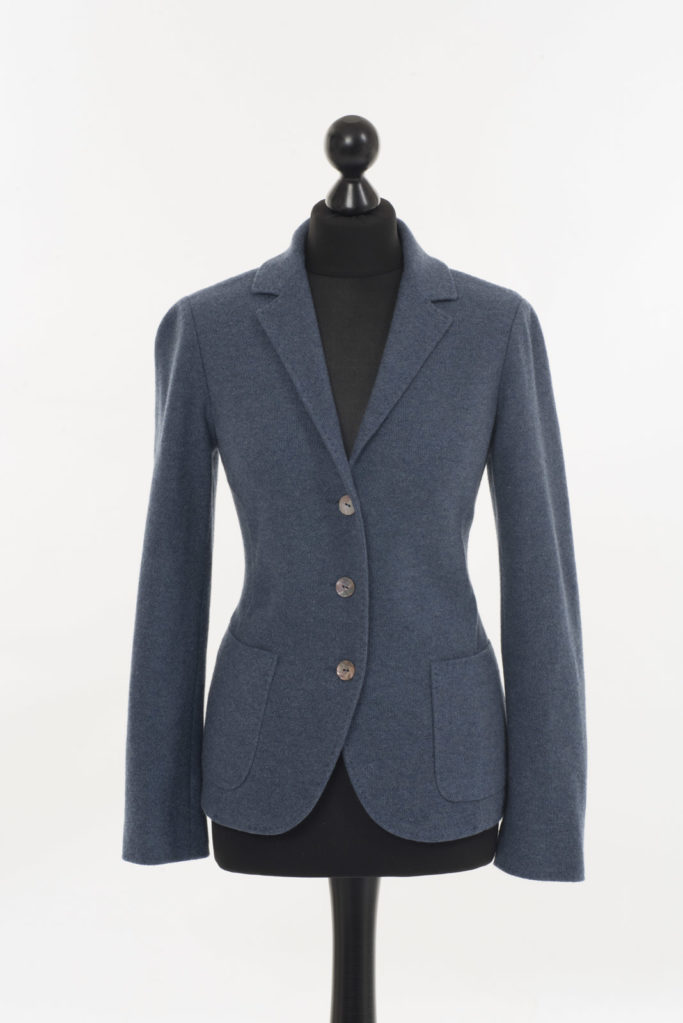 Ladies Cashmere Jacket – Denim Blue