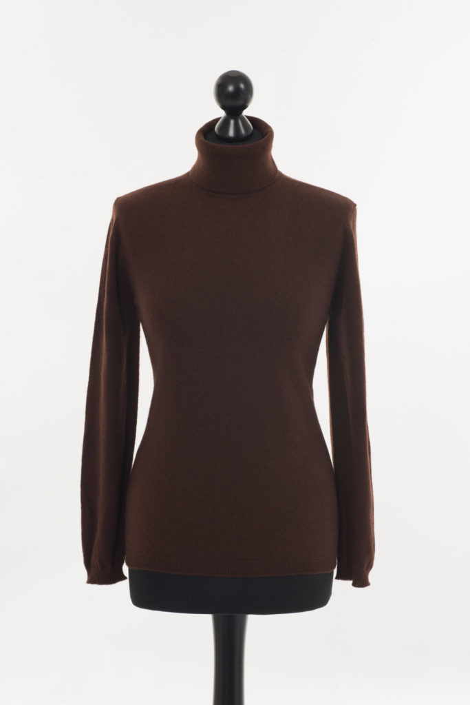 Ladies Cashmere Polo Neck – Cocoa