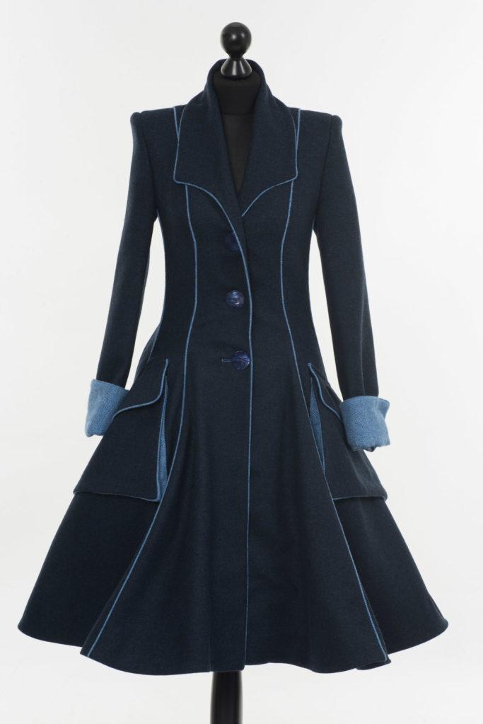 Lannagh Coat – Indigo/Blue – Made in England