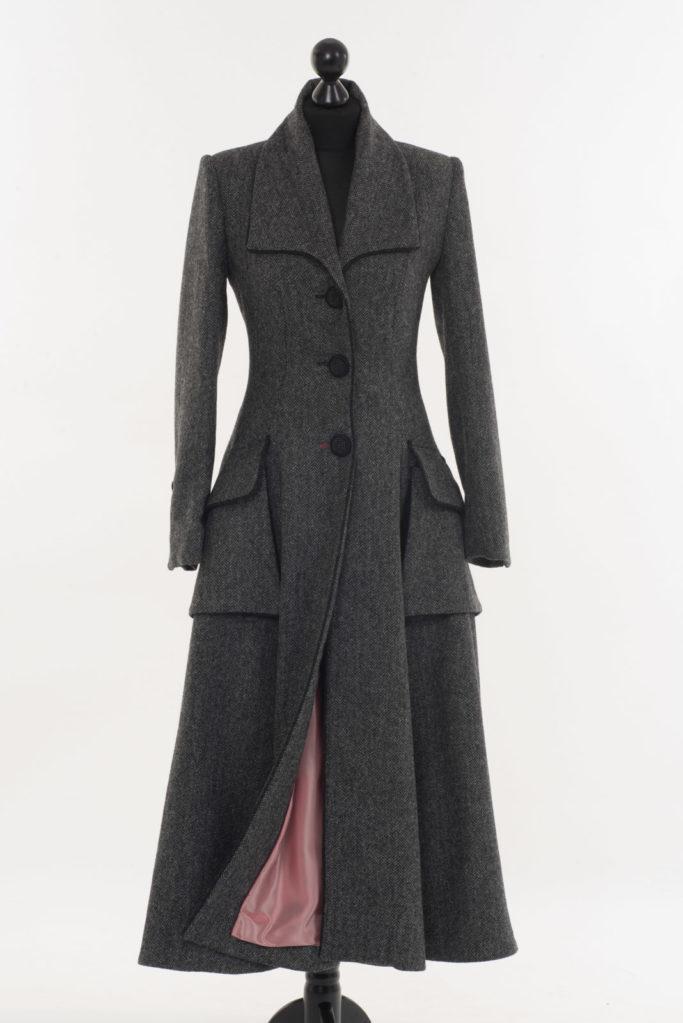 Ballinrobe Coat – Grey Herringbone – Made in England