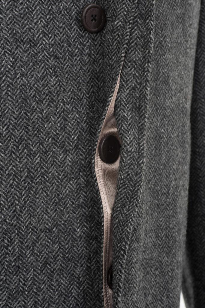 Scotia Coat – Grey Herringbone – Made in England