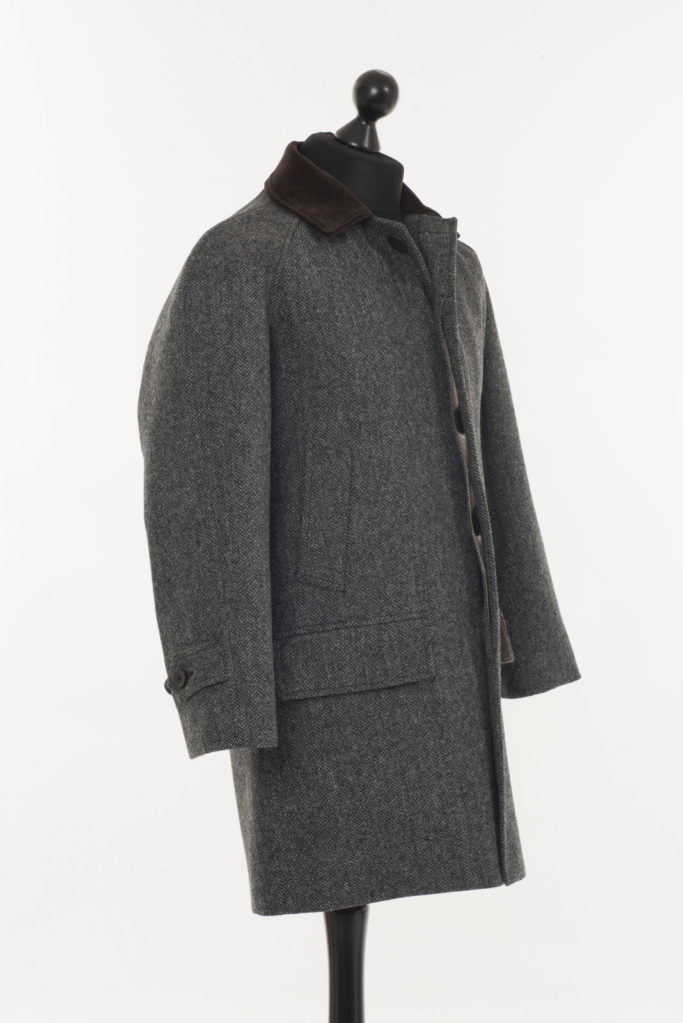 Scotia Coat – Grey Herringbone – Made in England