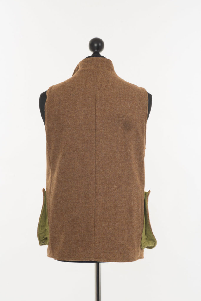 Mens Gilet – Ginger Brown Twill – Made in England