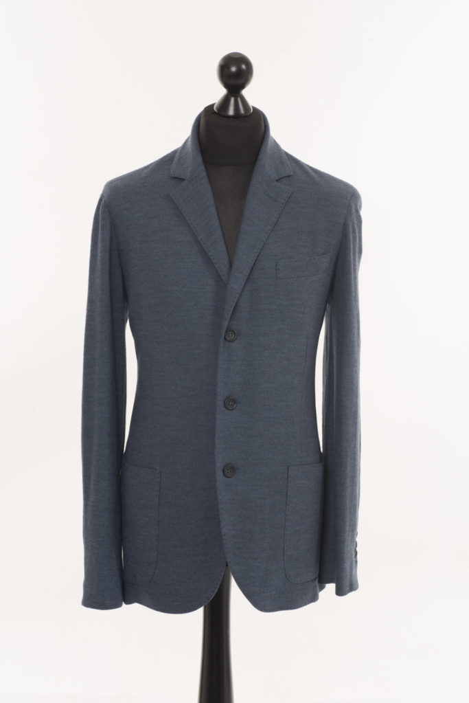 Mens Merino Wool Jacket – Blue