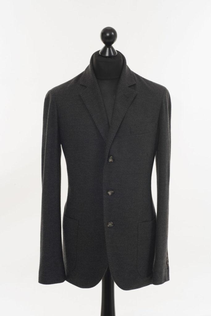 Mens Merino Wool Jacket – Charcoal Grey