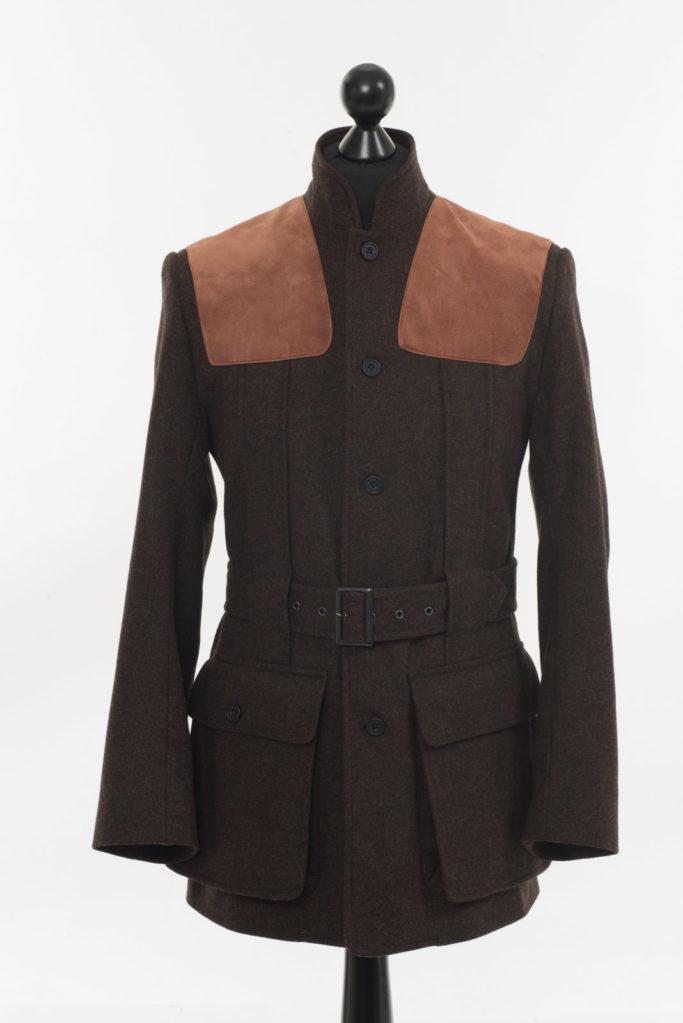 Norfolk Jacket – Dark Brown Twill Tweed – Made in England