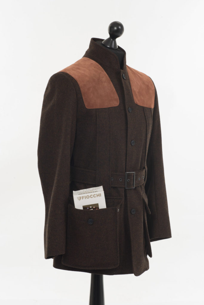 Norfolk Jacket – Dark Brown Twill Tweed – Made in England