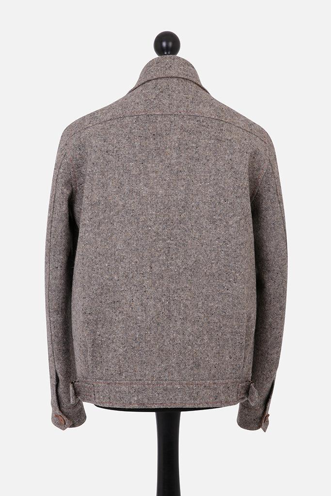 Fauconberg Bomber Jacket – Bracken Donegal Tweed – Made in England