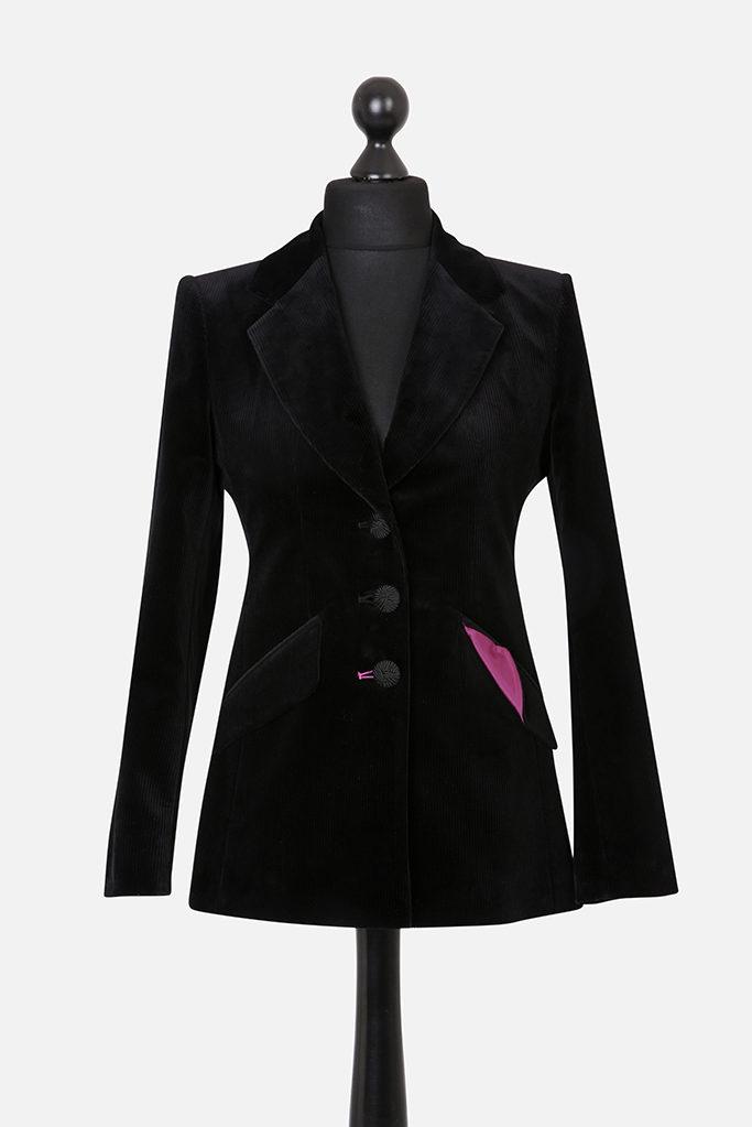 Feeagh Jacket – Black Corduroy – Made in England