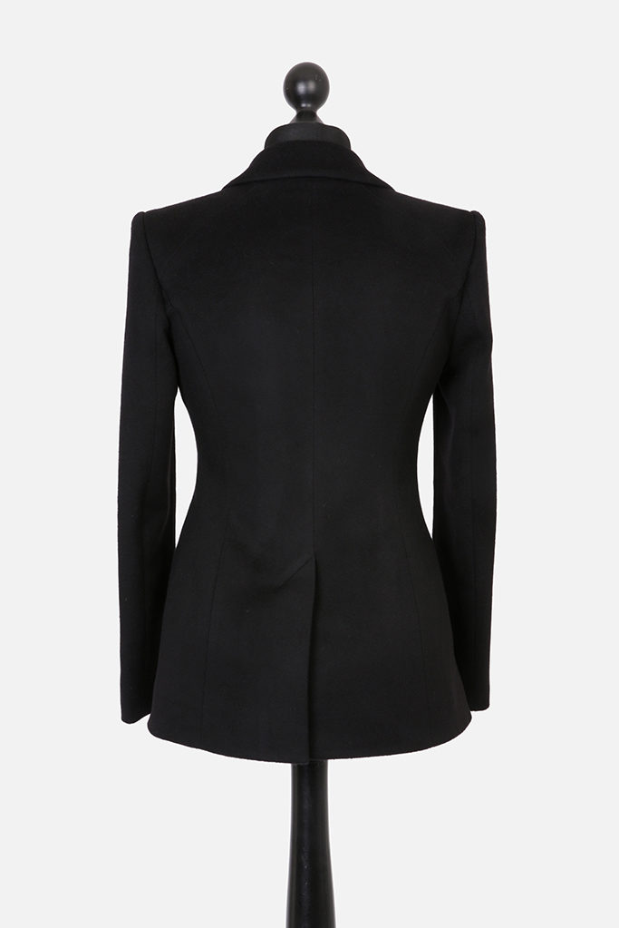 Va Va Voom Jacket – Black Cashmere Melton – Made in England