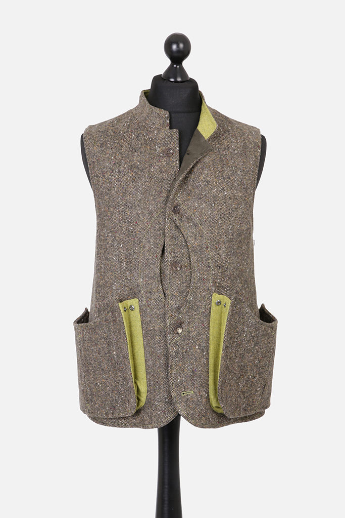 Mens Gilet – Donegal Tweed – Made in England