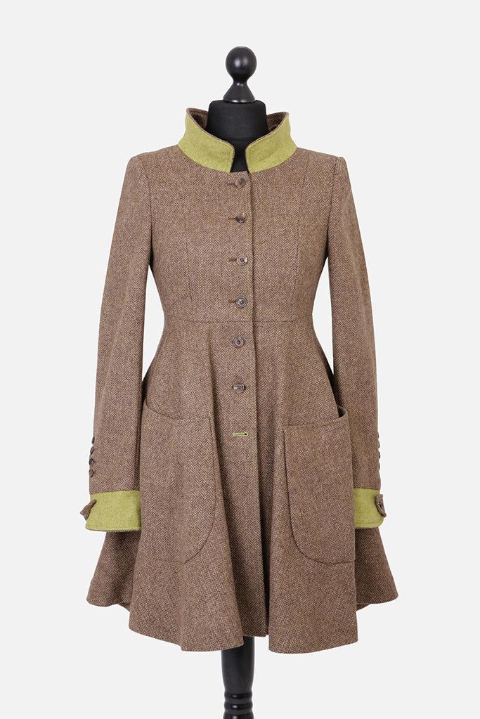 Castlebar Coat – Brown Herringbone – Made in England