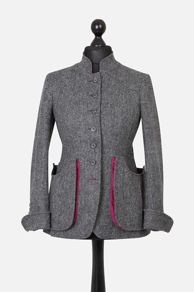 Sligo Jacket – Grey Herringbone – Made in England