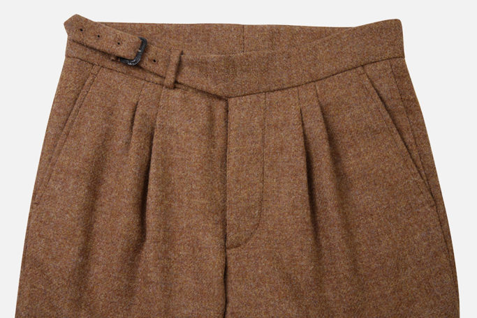 The Lucan Gurkha Trouser – Ginger Brown Tweed – Made in England