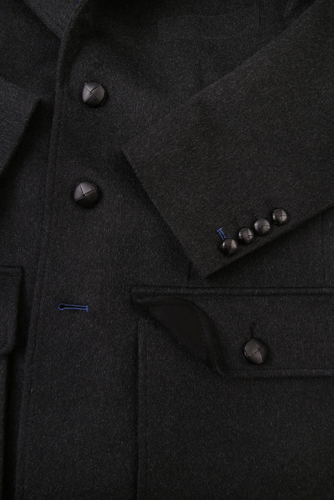 Sarsfield Sports Jacket – Charcoal Cashmere Melton – Made in England