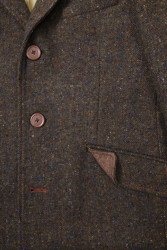 Turberville Topcoat – Brown Donegal Tweed – Made in England
