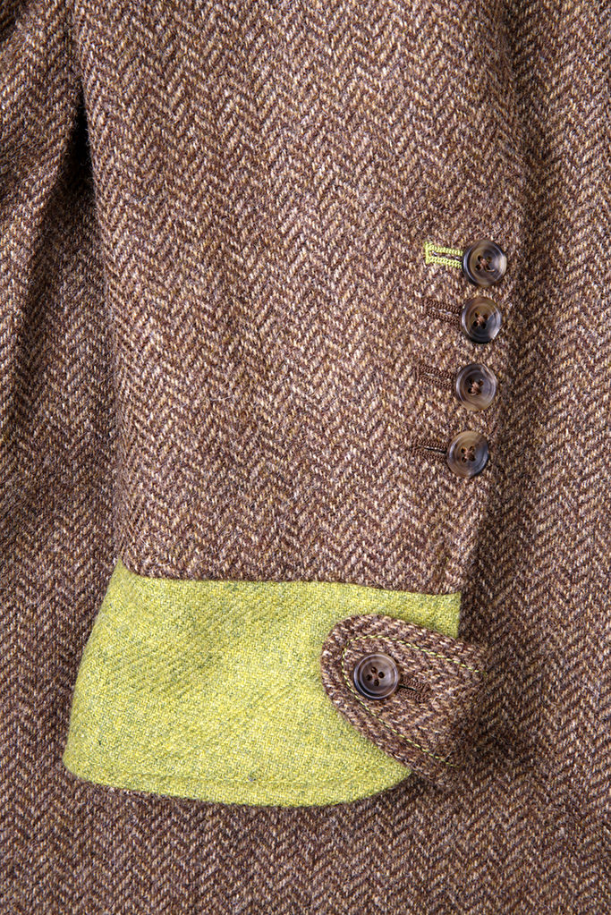 Castlebar Coat – Brown Herringbone – Made in England