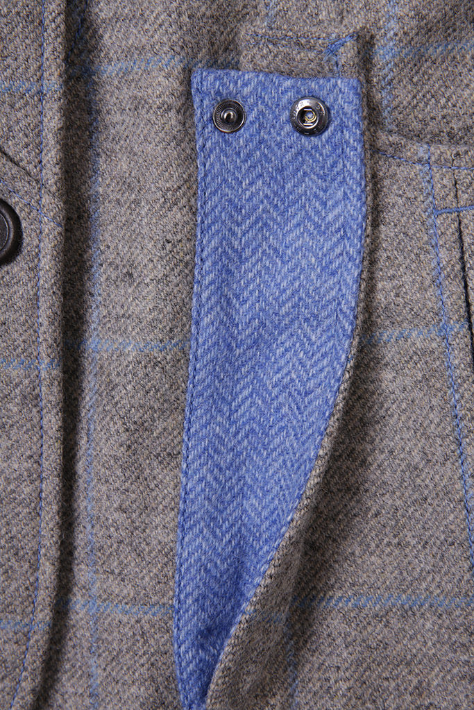 Ladies Gilet Vest in Grey Herringbone – Made in England – Award Winning Style