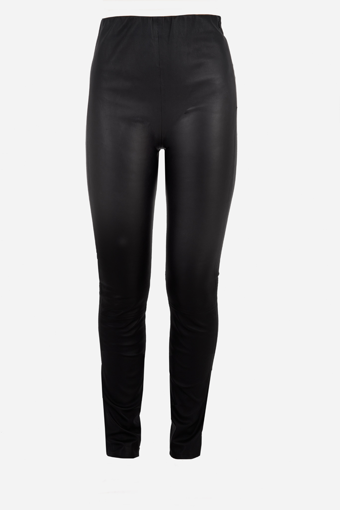 Rouser Trouser – Black Bonded Stretch Leather – Made in England