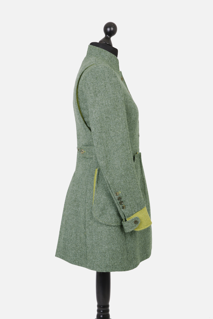 Sligo Coat – Green Herringbone – Made in England