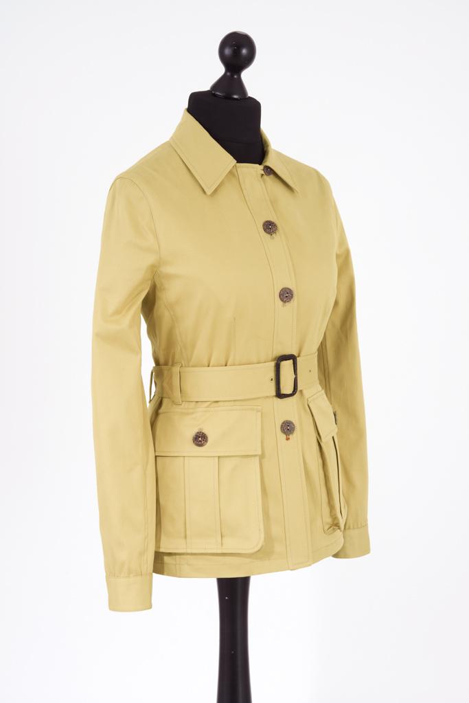 Ladies Safari Jacket – Sandstone Cotton Twill – Made in England