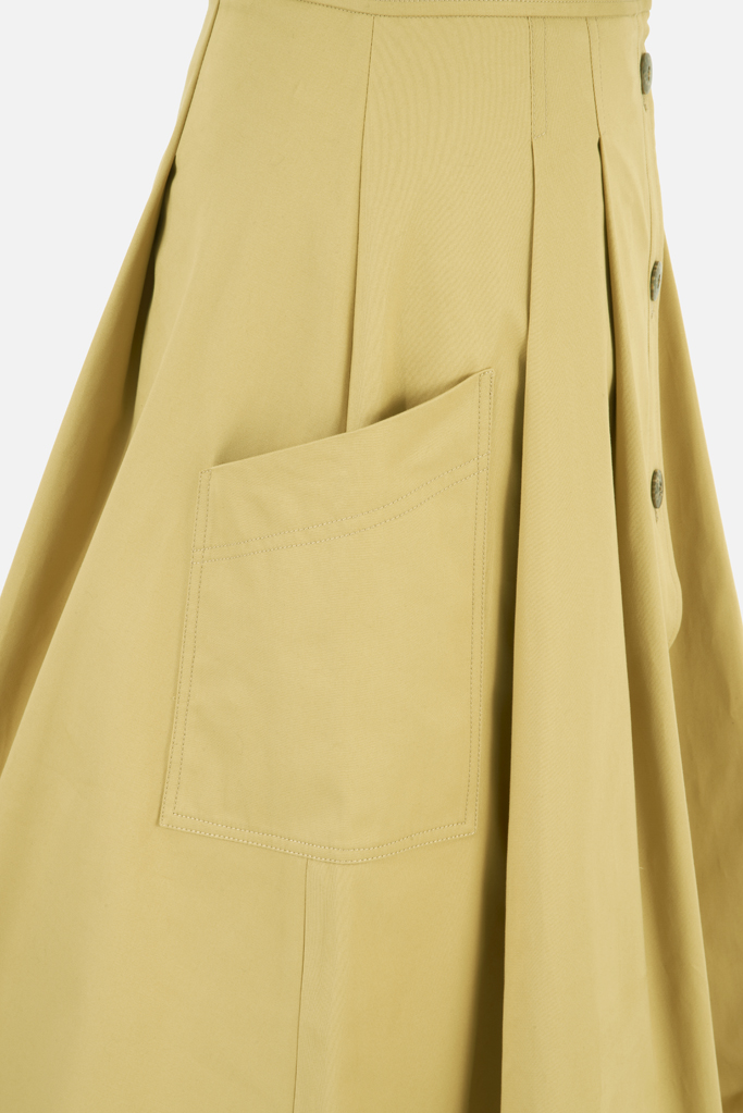 Ladies Safari Skirt – Sandstone Cotton Twill – Made in England