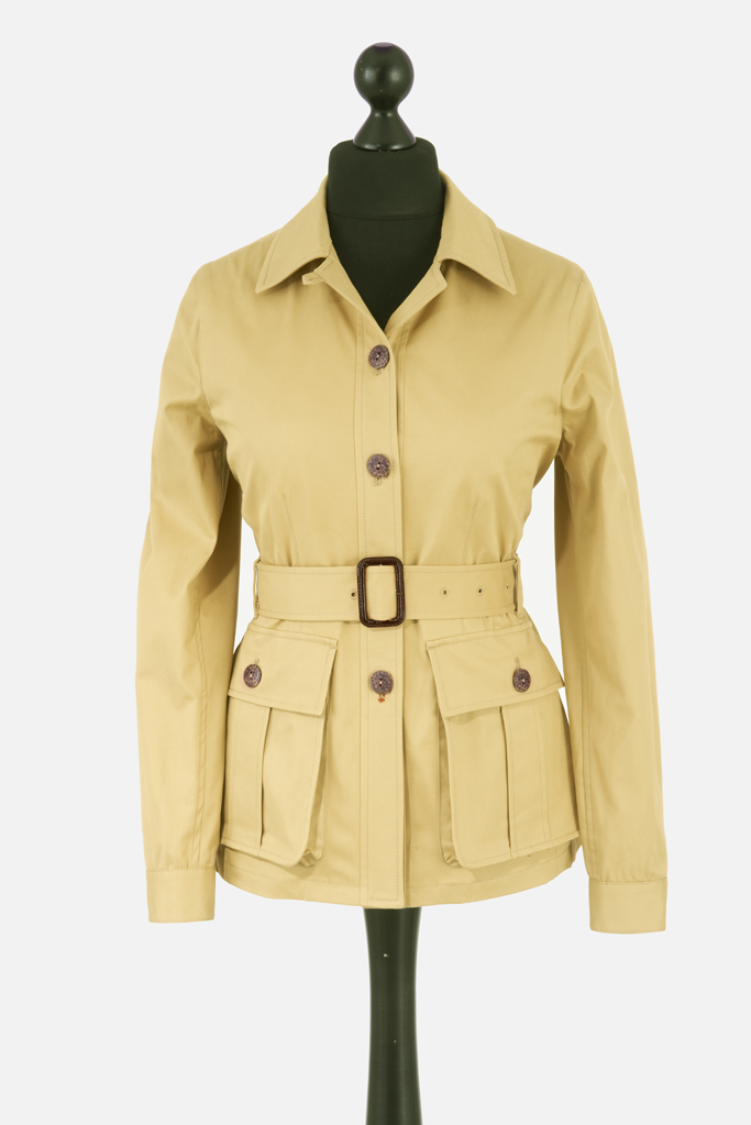 Ladies Safari Jacket – Sandstone Cotton Twill – Made in England