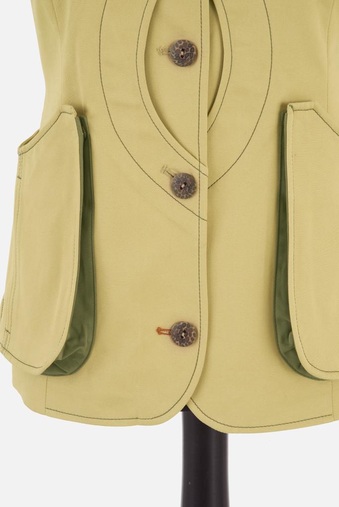 Ladies Safari Gilet – Sandstone Cotton Twill – Made in England