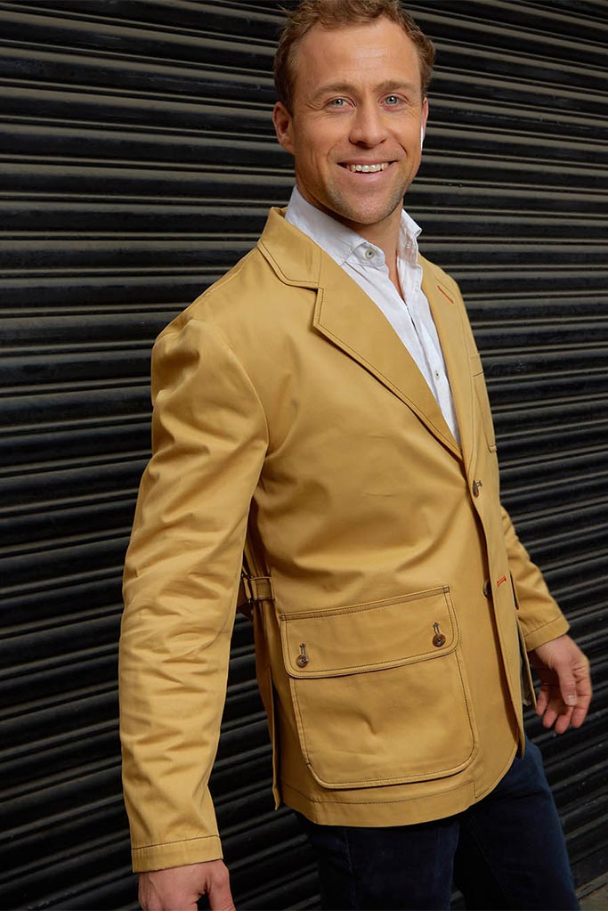 Tully Jacket – Sandstone Cotton Twill – Made in England