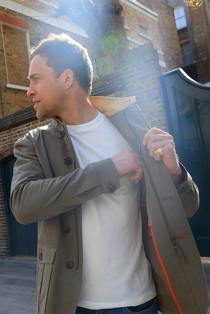Lepanto Jacket – Lovat Cotton Twill – Made in England