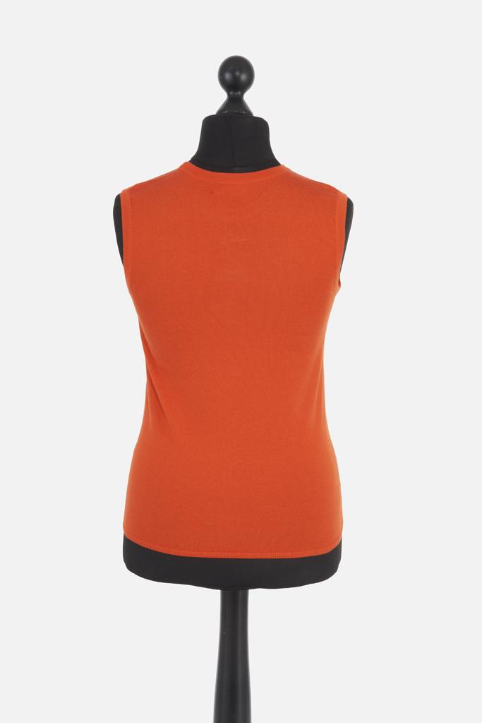 Ladies Cashsilk Tank – Tangerine Cashmere/Silk