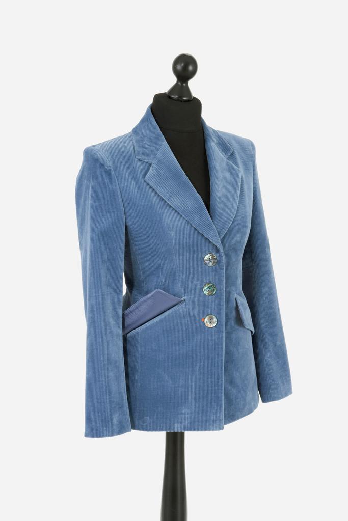 Ladies Feeagh Jacket – Dusk Blue Corduroy – Made in England