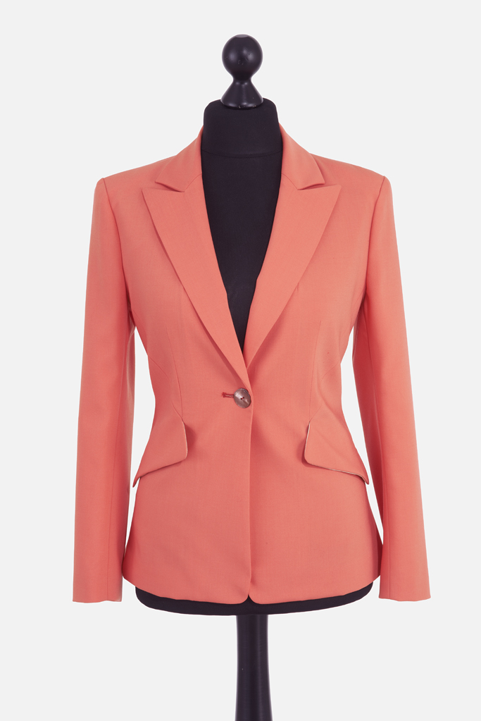 Ladies Foxglove Jacket – Coral Sportswool – Made in England