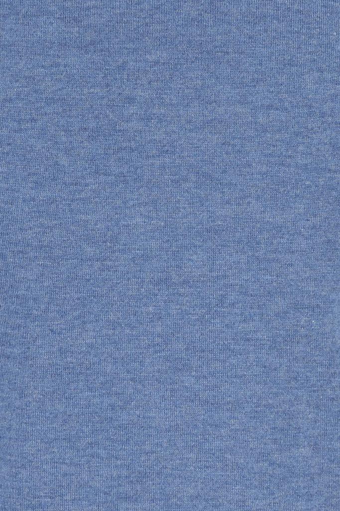 Mens Cashsilk Jumper – Dusk Blue Cashmere/Silk