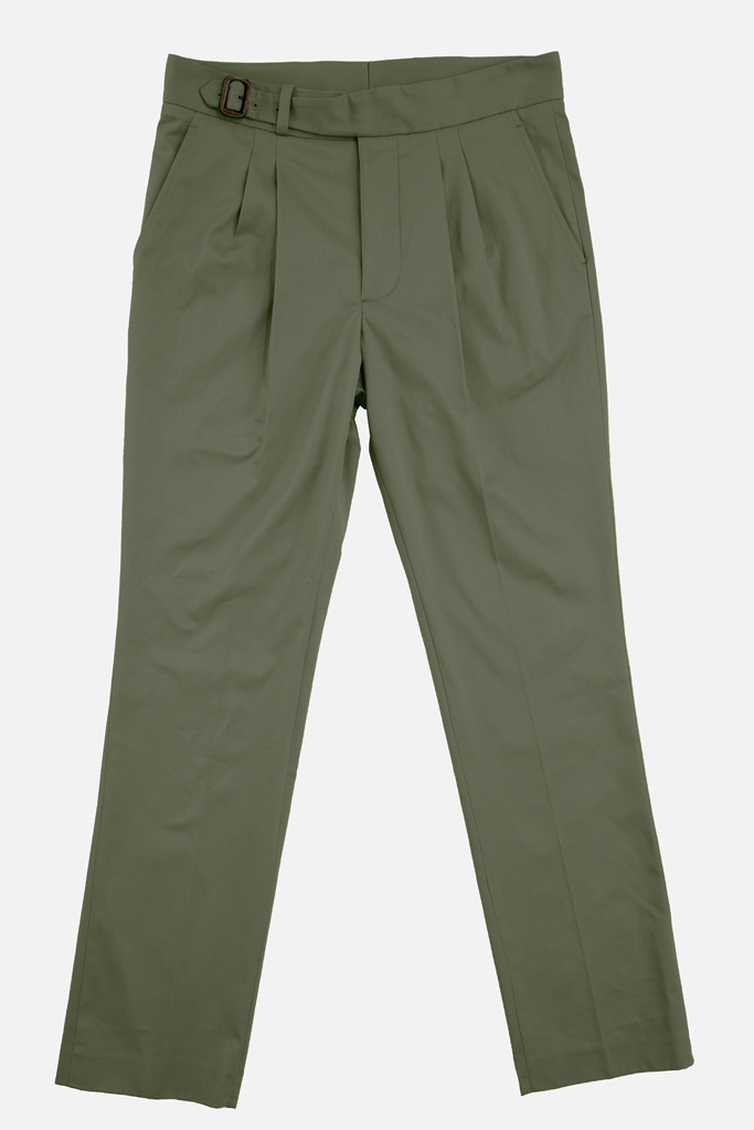 The Lucan Gurkha Trouser – Lovat Cotton Twill – Made in England
