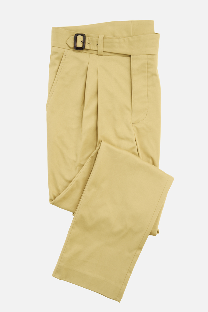 The Lucan Gurkha Trouser – Sandstone Cotton Twill – Made in England