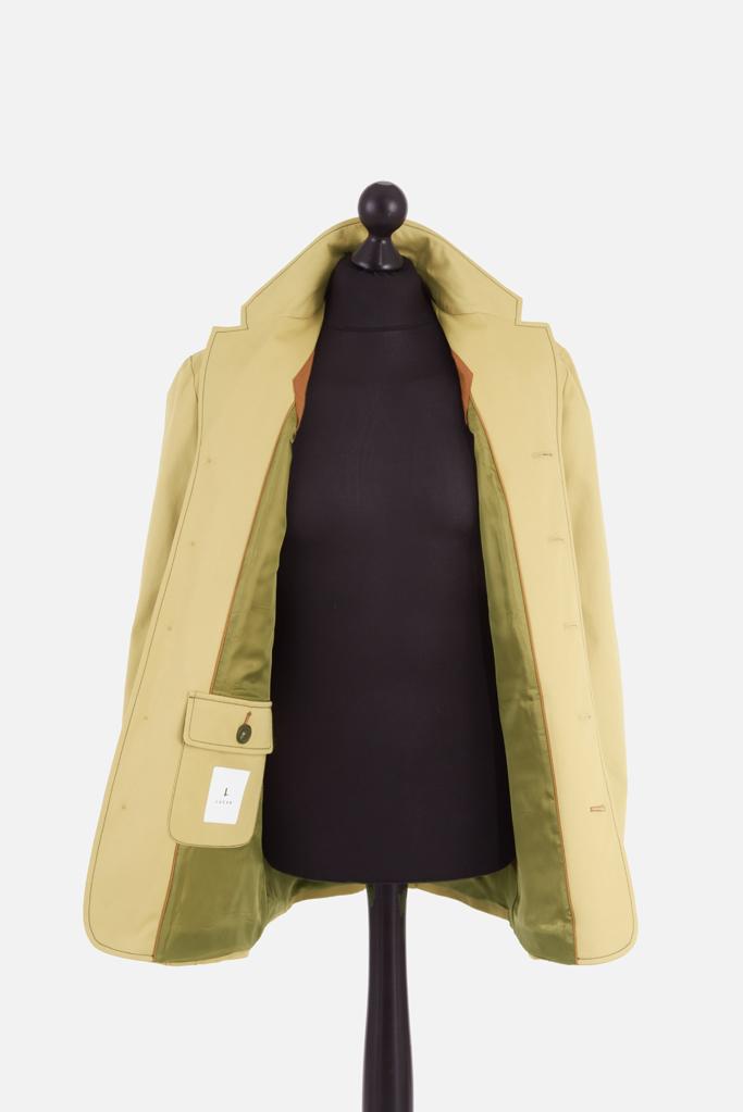 Mens Safari Norfolk Jacket – Sandstone Cotton Twill – Made in England