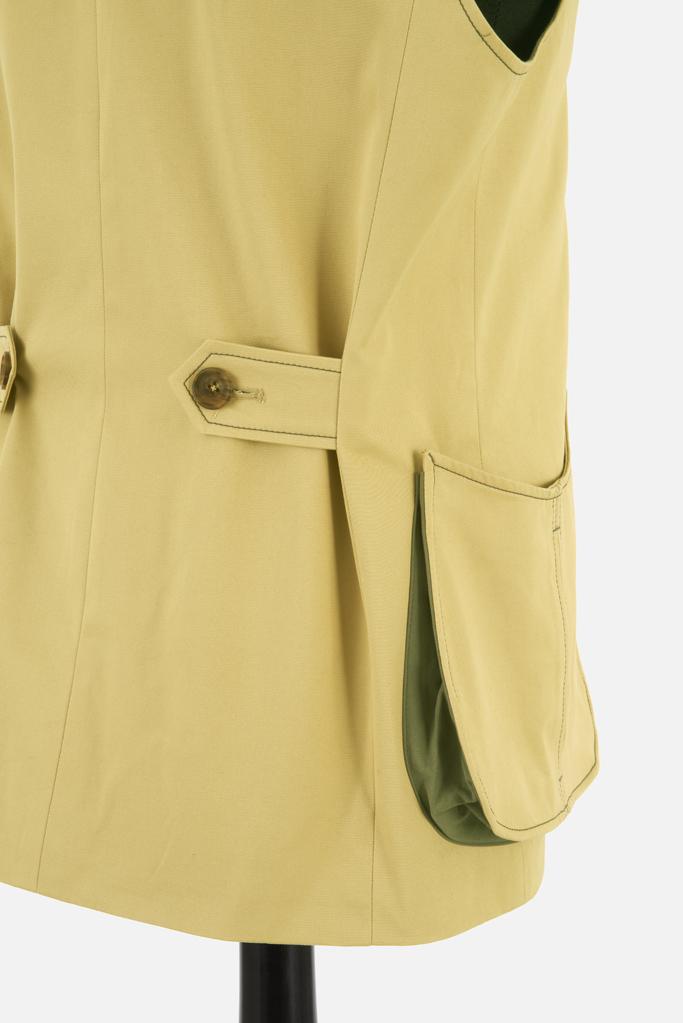 Mens Safari Gilet – Sandstone Cotton Twill – Made in England